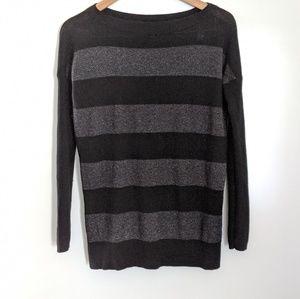 Vince Chunky Striped Cashmere Sweater Medium